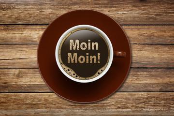 "Kaffeetasse mit ""MOIN MOIN"""