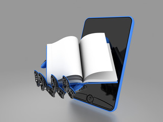 mobile with book