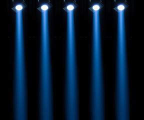 concert lighting against a dark background