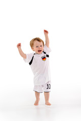 Deutschland Fan - Kleinkind jubelt