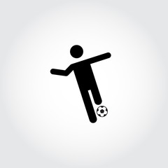 Soccer player icon. Control. Football. Vector