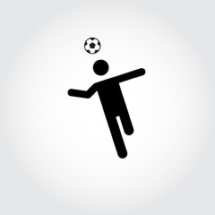 Soccer player icon. Head. Football. Vector