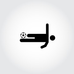Soccer player icon. Volley. Football. Vector