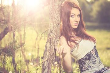 spring lady portrait