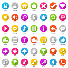 Phone Web Internet Flat Icon Set