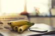Bananen und Smartphone
