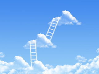 cloud stair, the way to success in blue sky