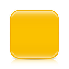 Yellow blank icon template with copy space