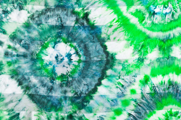 batik - abstract green floral pattern on silk