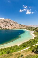 Freshwater lake in village Kavros in Crete  island, Greece