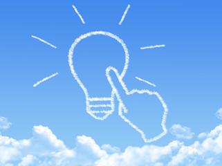 Cloud shaped as Click Idea