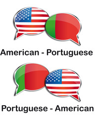 American - Portuguese translator clouds