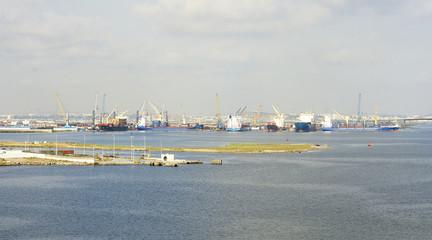 Panorámica del puerto de La Goulette, Túnez