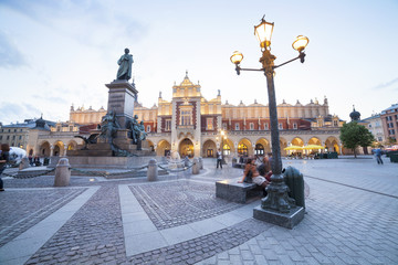 Krakow market square, Poland, Europe