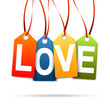 "Hangtags "" LOVE """