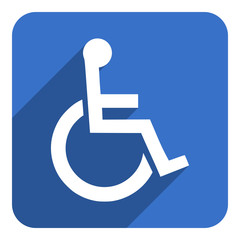 wheelchair flat icon