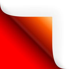 Papier / Seite umschlagen unten links rot