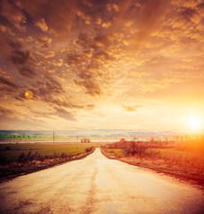 rural road to horizon