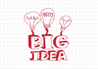 big idea Light bulb  illustration icon