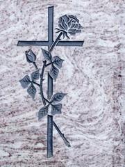 Kreuz und Rose