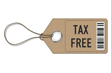 Tax Free - tag label