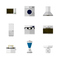 Flat icons for home equipment