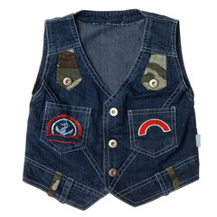 Blue children's denim vest