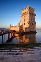 Sunrise at Belem Tower in Lisbon