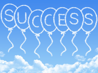 Cloud shaped as success Message