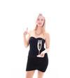 Silvester im schwarzen Kleid