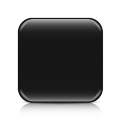 Black blank icon template with copy space