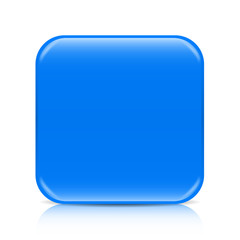 Blue blank icon template with copy space