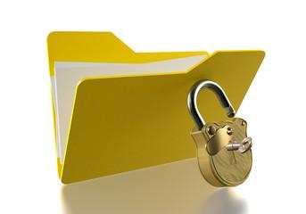 Unlocked folder
