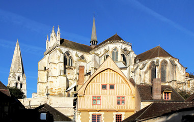 Vue de l'abbaye d'Auxerre