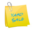 yard sale post illustration design