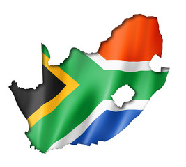 South African flag map