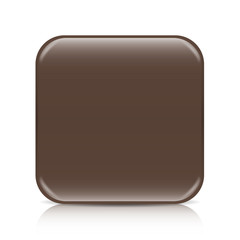 Brown blank icon template with copy space