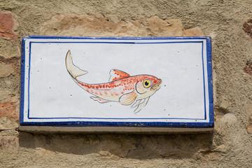 Tonda Cartello pesce