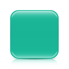 Sea green blank icon template with copy space