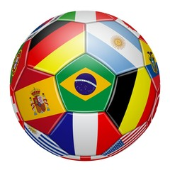 Soccer. Brazil. Colors of the participating teams