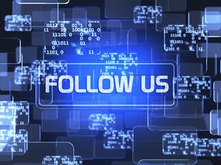 Follow us concept
