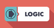 Logic on Scarlet Background in Flat Design. - 64760664