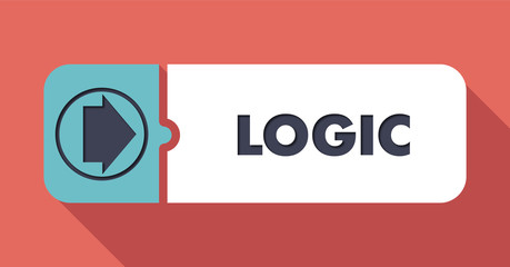 Logic on Scarlet Background in Flat Design.