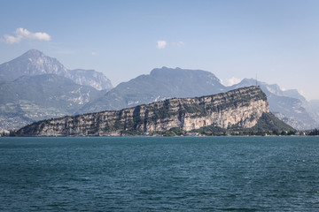 Lake Garda with Monte Brione mountain, Italy