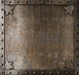 metal medieval door background