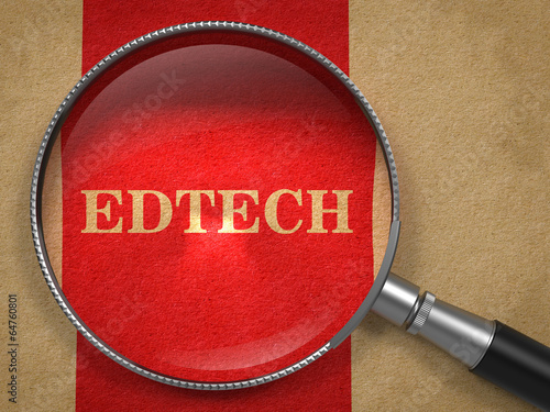 Edtech Concept Through Magnifying Glass.