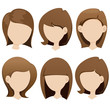 female hairstyle collection