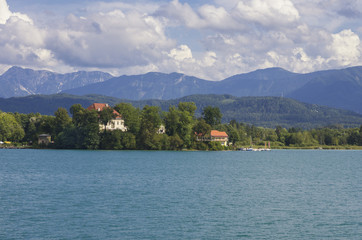 Lake of Worthersee, view from Portschach (Carinhtia, Austria)
