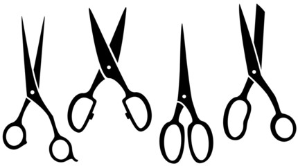 isolated scissors set