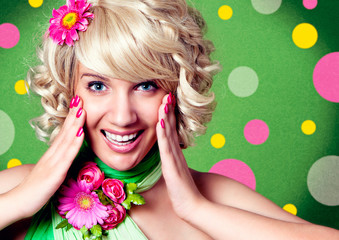 funny girl with flowers - fashion 11